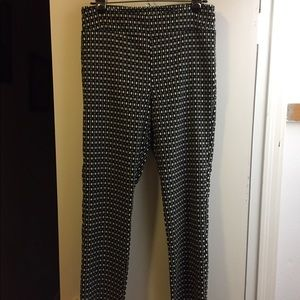 Geometric print ankle pants